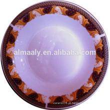 Oem design porcelana omega, placa profunda