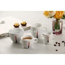 2015 taza de regalo de cerámica de promoción conjunto de porcelana taza de café blanco conjunto