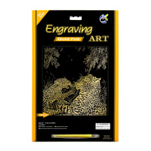 Artificial artesanato dois leopardos ouro Scratch Cards