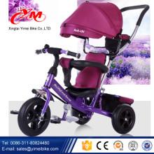 2015 лучшие продажи детские трицикл сделано в Китае/купить трехколесный велосипед для детей от в yimei велосипед/3 колеса толкать трехколесный велосипед с навесом
