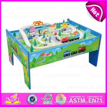 2015 nouveau train train set jouet, drôle jouet éducatif en bois jouet train, jouet en bois de haute qualité Thomas train (with 69pcs) w04d002