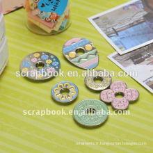 Belle peint bouton personnalisé en métal pour Europe/usa/etc.