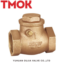 full brass nickle plated swing female thread check valves