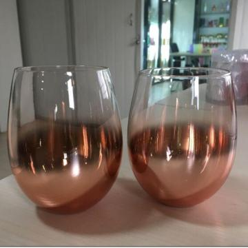 22oz Ombre Rose Gold stemless glas