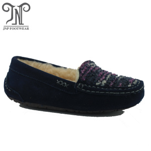 Ladies high quality warm fuzzy winter indoor slippers