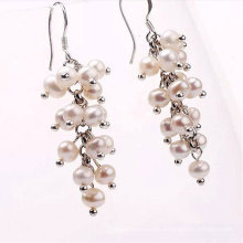 Freshwater off Round Pearl Beads Hook Earrings