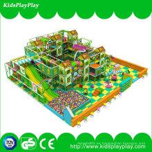 Equipo para niños Kids Gungle Theme Indoor Soft Playground con diapositiva larga