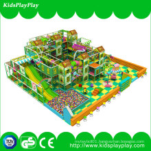 Children Kids Gungle Theme Equipment Indoor Soft Playground with Long Slide