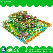 Children Kids Gungle Theme Equipment Indoor Soft Playground with Long Slide