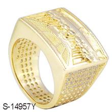 Nuevo anillo de diamante de la joyería de la manera de la plata esterlina 925 para los hombres