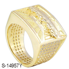 Novo 925 prata esterlina moda jóias anel de diamante para homens