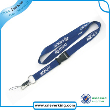 Flat Printed Lanyards with Bull Dog Clip