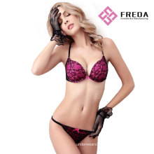 Women fashion plus size bra and panty set