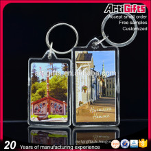 New product cheap custom acrylic key ring for tourist souvenir