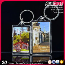New product cheap custom acrylic key ring for tourist souvenir
