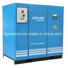 Compresor de tornillo rotatorio silencioso sin aceite industrial VSD (KF185-10ET) (INV)