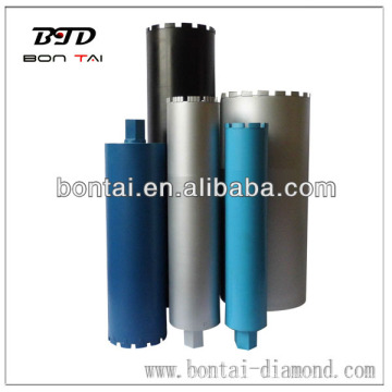 Laser welded wet diamond core drill bits