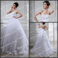 Charming Sweetheart Romantic Flowers Chritmas Wedding Dress Real Sample
