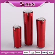 Wholesale Luxury Red Cone Shape Plastic Beauty Container and 30ml 60ml 120ml Acrylic Lotion Bottle