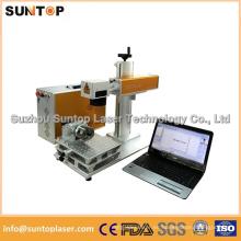 Máquina rotatoria de la marca del laser de 20W / máquina redonda de la marca del laser del tubo