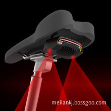 Remote control laser tail lamp, the yellow light flashes indication of the rear bike turn right/leftNew