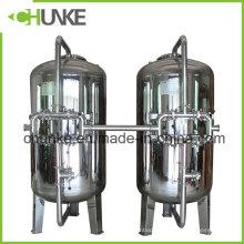 Ss304 Carcasa de filtro mecánico de arena de carbono para tratamiento de agua en venta
