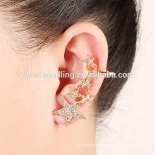 Горячие Китай фабрика ювелирных изделий звезда формы уха клипы серьги шпилька