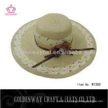 Большие пляжные шляпы для дам