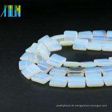 Fabrik-Versorgungsmaterial-flacher quadratischer natürlicher Opal-Edelstein XA0002 Opal-weißer Stein-lose Korne für die Schmuckherstellung
