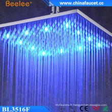 La douche de luxe de 16 pouces a changé la tête de douche de luxe imperméable de LED