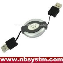 USB AM a AM Cable de la computadora Adaptador del cable de la PC Retractable