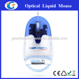 usb wired computer optical mouse with aqua insided