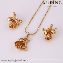 61813 Xuping new design fashional zircon jewelry set for girls