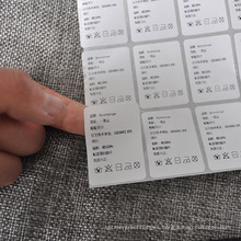 China Manufacture Supply Label Papers for Underwear