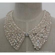 Mode Charme Perle Pailletten Chunky Kostüm Chokerhalsketten-Kragen (JE0061)
