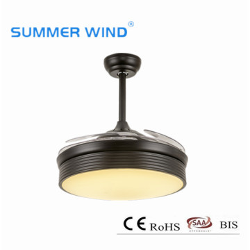 Contemporay invisible led ceiling fan lamps