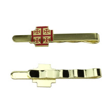 Quality Shiny Gold Pattern Tie Clip Bar