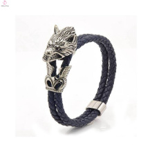 Bracelet de mode pour hommes Stingray cuir avec crâne