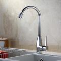 European long neck 3 way brass kitchen sink faucet