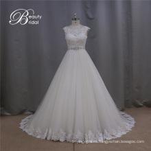 Guangzhou A-Line vestidos de novia muestra real