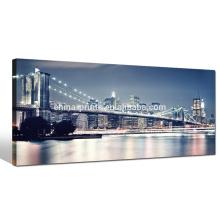 Impresión de la lona del puente de Brooklyn del gran tamaño, impresión de la imagen de la señal de Nueva York, pintura de la lona de la decoración casera