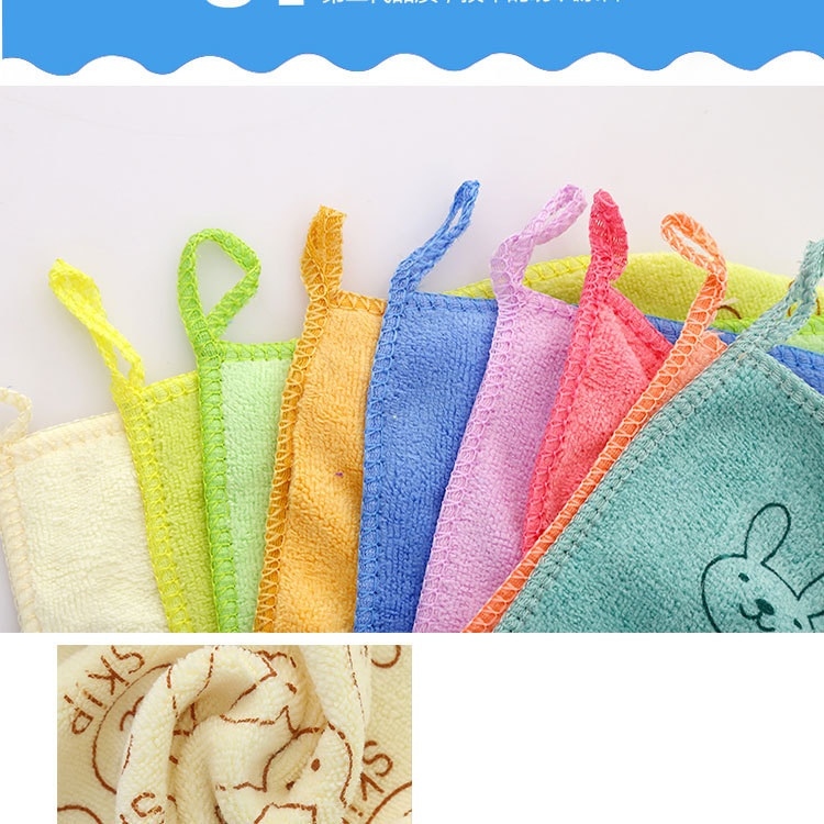 Nano microfiber square towel hand towel face towel child towel kindergarten gift 2525 activity gift (8)