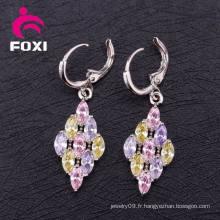Grossiste Boucle d'oreille Cubic Zirconia Fashion Hoop Boucle d'oreille