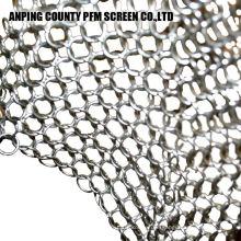 Scrubberset de Chainmail de aço inoxidável da inserção do silicone