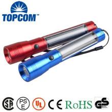 Corps en aluminium Batterie rechargeable Torche solaire Led Solar 4 LED Lampe de poche