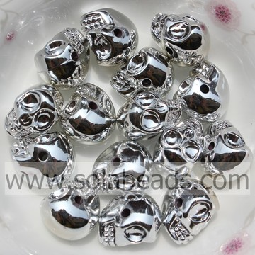 Beaucoup de 10 * 13MM Craft crâne OS forme perles Ornament