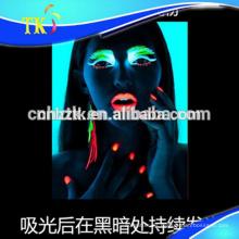 Pigmento luminoso / resplandor / polvo fotoluminiscente para pinturas, cosméticos, esmaltes de uñas, etc.