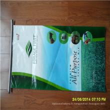 Sac d'alimentation tissé par pp de stratification de BOPP, sac de riz, sac d'alimentation