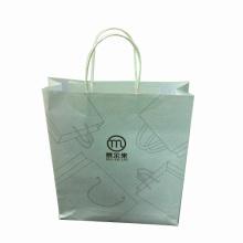 White Kraft Paper Shopping Bag for Promotion