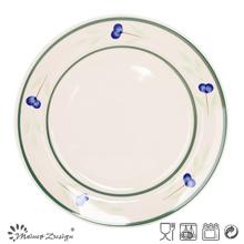 "10.5 ""placa de cena de cerámica pintada a mano al por mayor"